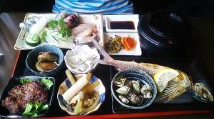安房お食事処かもがわさんの屋久島定食¥1.600!