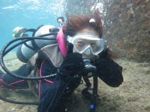 まずは、1mの浅瀬に潜ってみましょう♪ at 6/10
