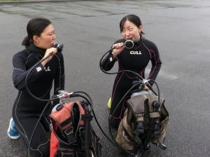 雨の日も体験ダイビング!