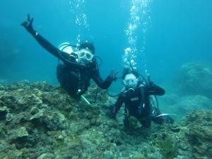 水深5m!水中世界に慣れてきたね♪