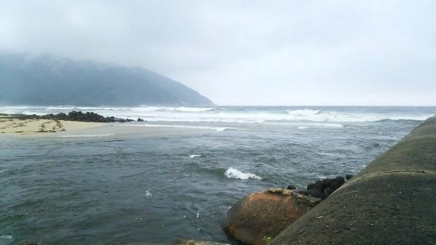 屋久島 永田の河口 -台風8号通過後-