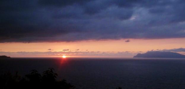 屋久島 東シナ海展望所からの夕日 2015.11.19