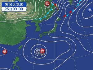 8/25 Yahoo天気より 「台風10号」