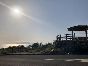 夕日の丘展望所 ここまでくるといつもの景色でホッとします。