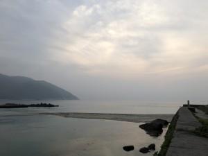 いつもの口永良部島が見える景色のはずが今日は真っ白!