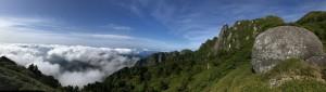 ロウソク岩展望所からの眺望。