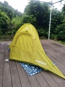 山にも持って行ける総重量500gのテント!