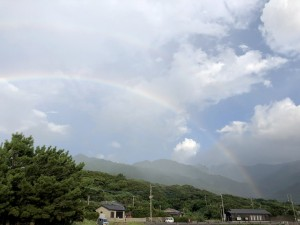 雨がさーっと降ると・・・虹!