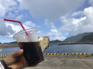 水面休息中にコーヒータイム☆