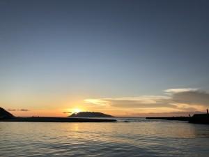 台風前の夕焼け。