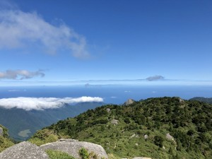口エラブだけじゃなくって、硫黄島も開聞岳も種子島もくっきり。