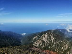 永田岳からの眺望ー!
