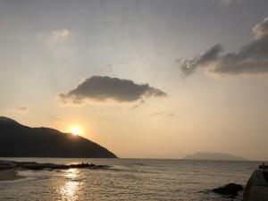 日の入りまで快晴ー☆静かに夕陽が沈んでいきました♪