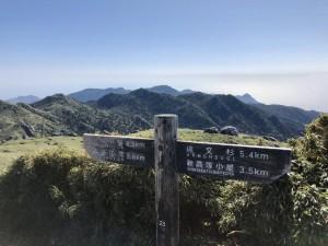 宮之浦岳到着ー!山頂は私とあともうお一人のみ。