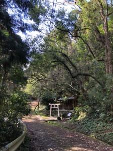 永田嶽からの坂道を登ると見えるのは小山神社。