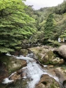 白谷雲水峡入り口の風景。