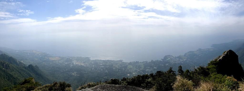 山頂からの眺望ー!